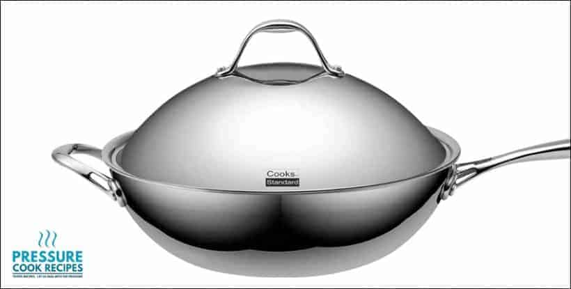Multi-Ply Clad Stainless-Steel 13-Inch Wok