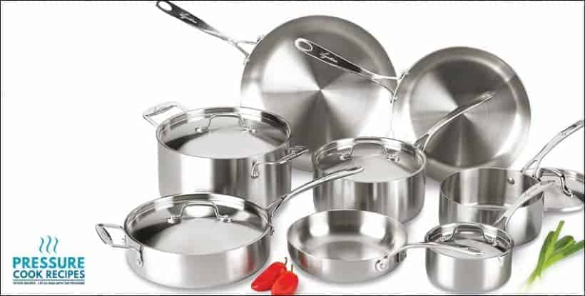Lagostina Tri-Ply Stainless Steel Cookware Set