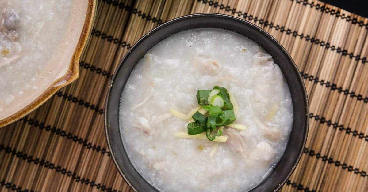 Instant Pot Chicken Congee Rice Porridge Or Jook In Pressure Cooker