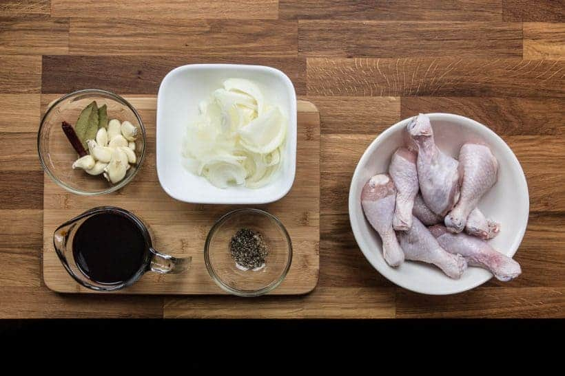 Filipino Pressure Cooker Chicken Adobo Ingredients