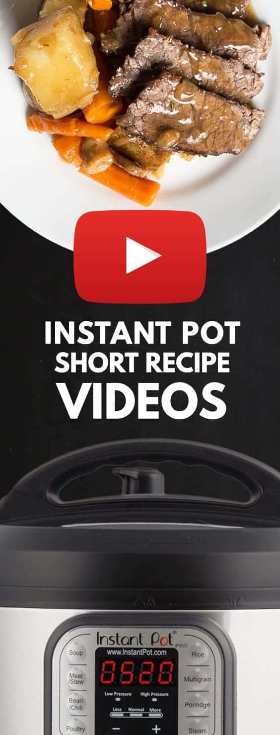 Growing Instant Pot Videos & Pressure Cooker Videos: short Step-by-Step Recipe Videos for Instant Pot Electric Pressure Cookers.