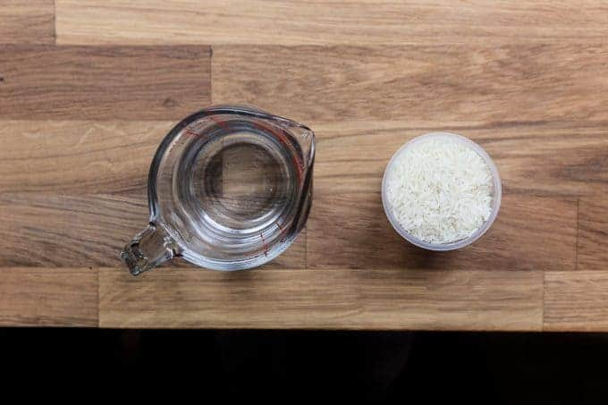 Perfect Pressure Cooker Rice Ingredients