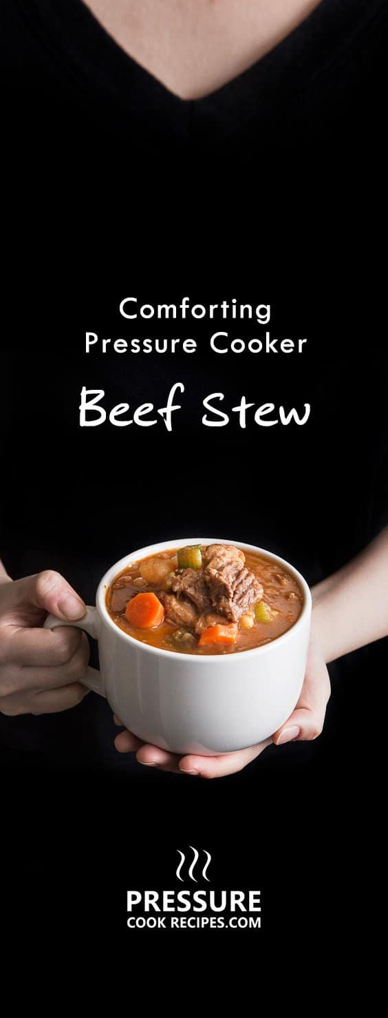 15 mins prep to make this homey pressure cooker beef stew. Juicy tender brisket with rich tomato sauce. So deliciously satisfying & easy to eat!
