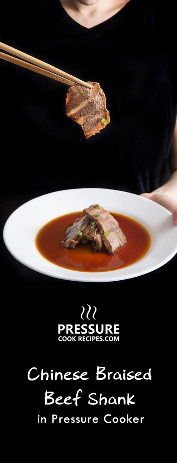 Make this delicious Chinese Braised Beef Shank Recipe in the Pressure Cooker with homemade Chinese Master Stock 滷水汁! This flavorful and tender beef makes a great chilled appetizer or a warm main dish.
