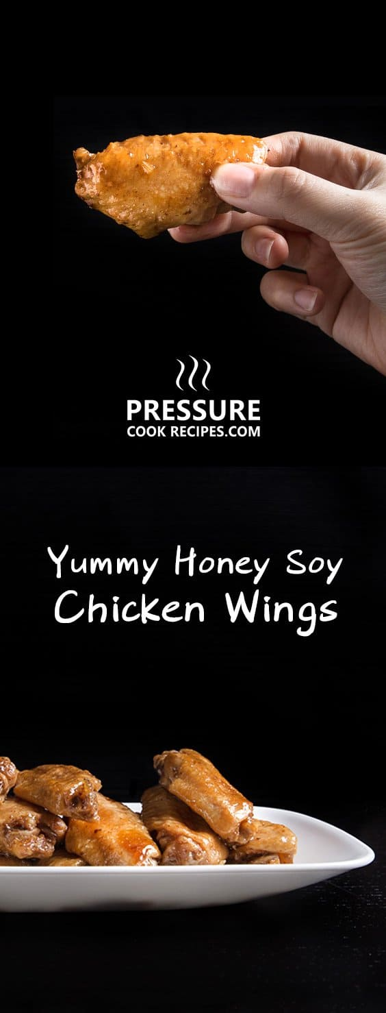 Make these Instant Pot Honey Garlic Chicken Wings (Pressure Cooker Chicken Wings) with 10 mins prep! Super flavorful wings as appetizer, snack, or dinner.