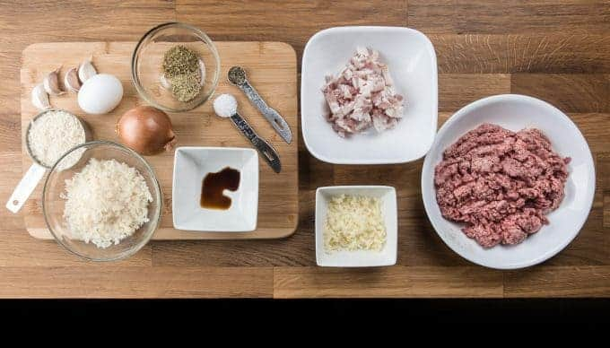 Pressure cooker meatballs in easy tomato sauce recipe ingredients