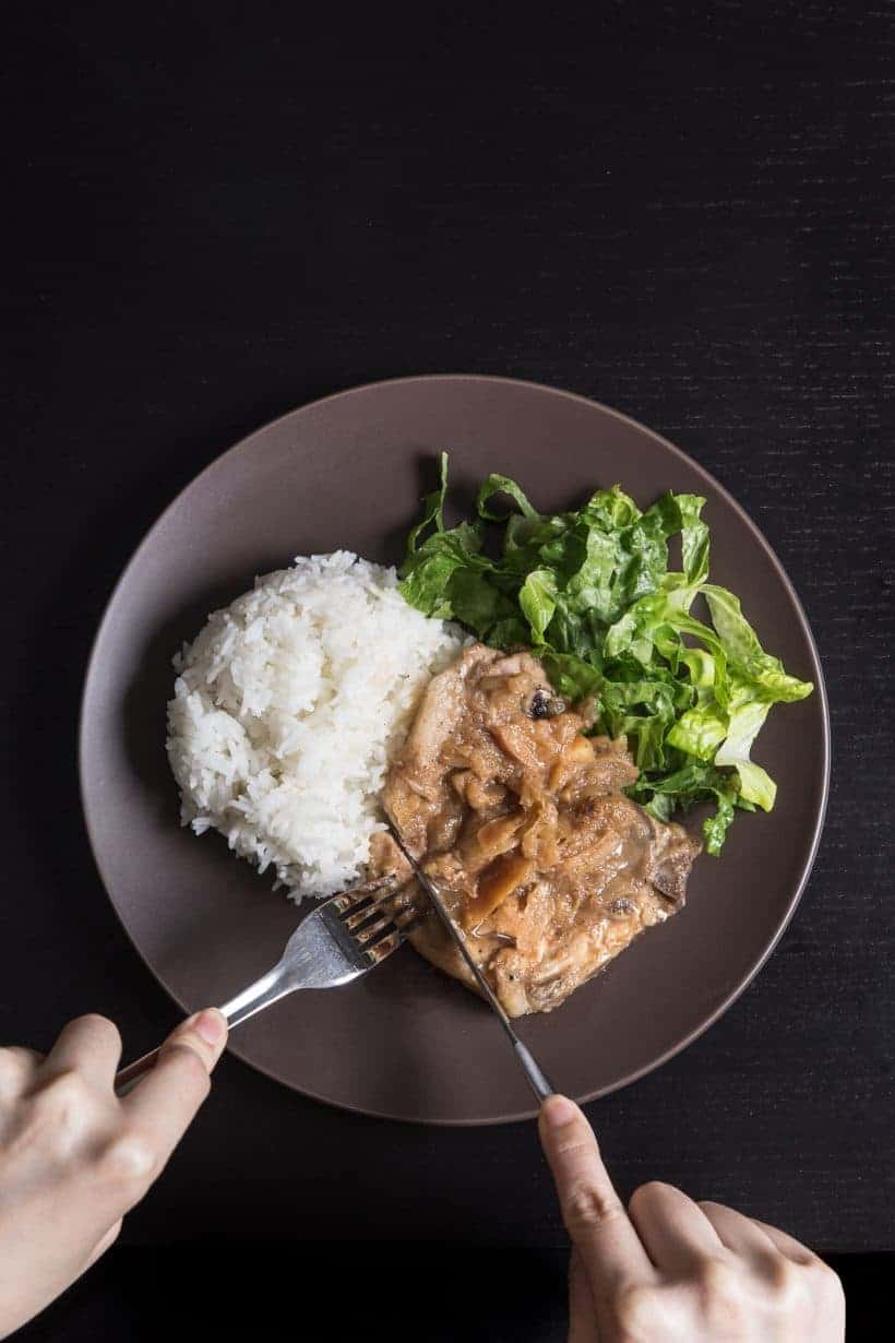 Make This Quick & Easy 1minute Pressure Cooker Pork Chops And Simple  Homemade Applesauce