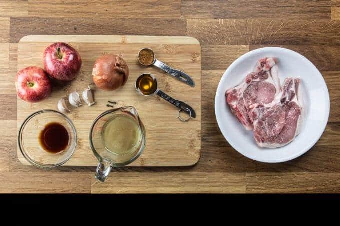 Pressure Cooker Pork Chops and Applesauce Recipe ingredients