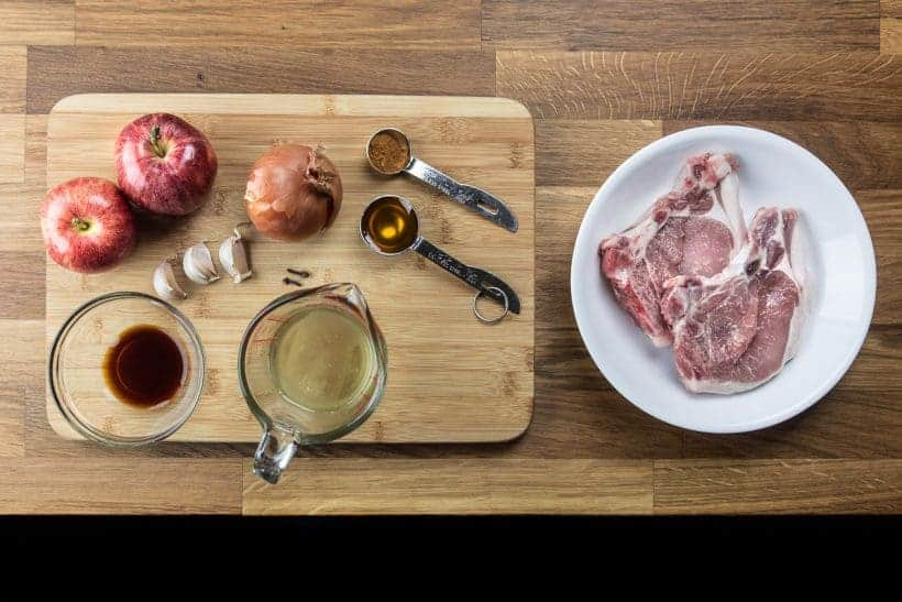 Pressure Cooker Pork Chops and Applesauce Recipe ingredients