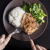 Pressure Cooker Pork Chops and Applesauce Recipe