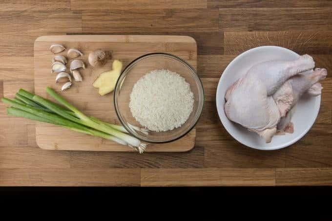 Hainanese Chicken Rice in Pressure Cooker Recipe Ingredients