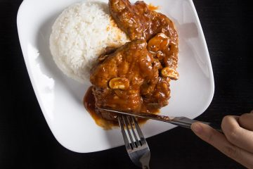 Instant Pot Pork Chops Recipe with umami-packed HK-style Tomato Sauce. These tender & moist pork chops are super comfort food!