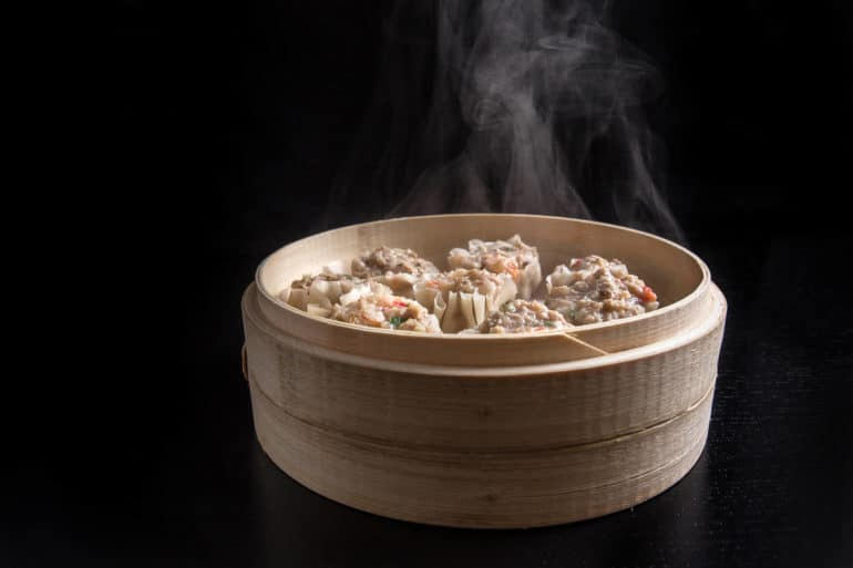 Make this Chinese dim sum Shumai Recipe (燒賣, Siu Mai, Shaomai, or Siomai). Flavorful Pork Dumplings with crunchy shrimps, bouncy pork & fragrant mushrooms. Great make ahead freezer meals!