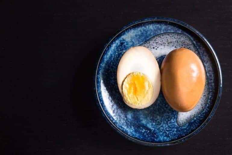 Make this super easy Soy Sauce Eggs Recipe that celebrates a beautiful bond between a little boy and his Grandma. Flavorful eggs with perfectly cooked egg yolks & smooth egg whites, infused with delicious homemade Chinese Master Stock.