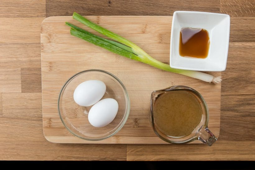 Steamed Eggs (Savory Egg Custard 蒸水蛋) in Pressure Cooker Recipe Ingredients