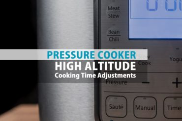 Living in a high altitude city (over 3000 ft above sea level)? Use this Pressure Cooker High Altitude Cooking Time Adjustment Chart to adjust cooking times.