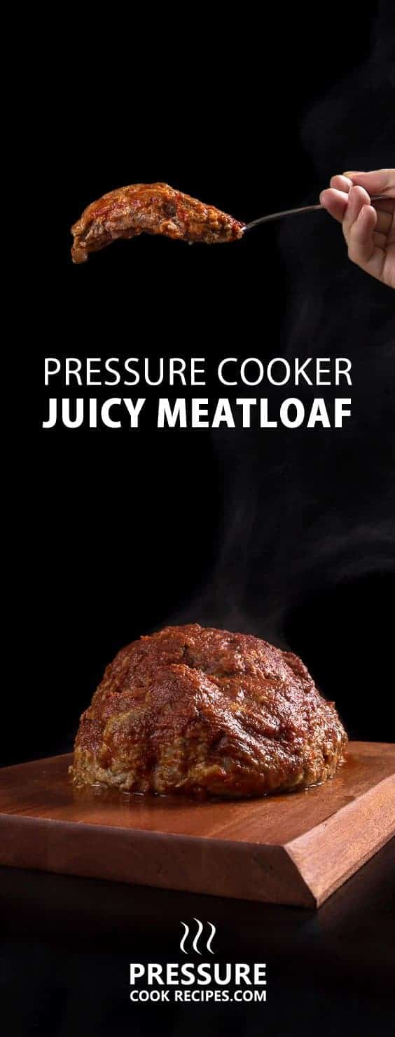 Make these Juicy Pressure Cooker Meatloaf soaked in homemade umami tomato sauce. Mouthful of smoky & cheesy meatloaf is satisfying, thrifty & delicious!
