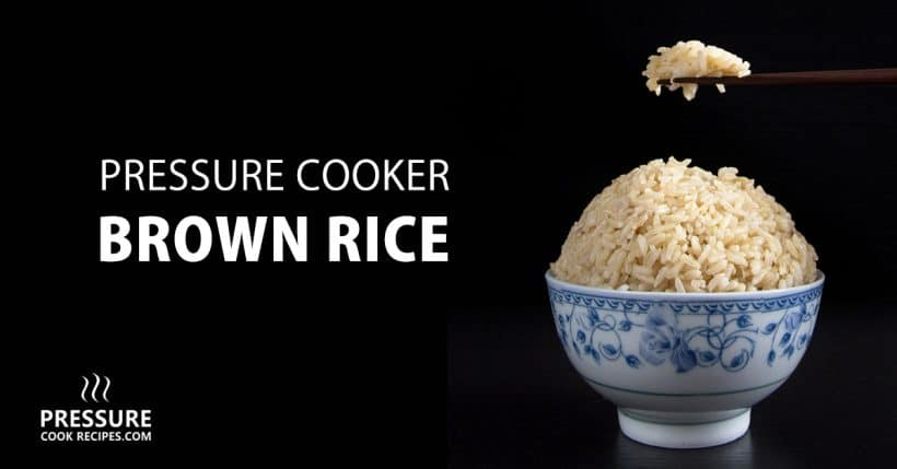 No more uncooked, burnt or mushy brown rice. Cut short half the cooking time & make perfect pressure cooker brown rice in 20 minutes! Set it and forget it.
