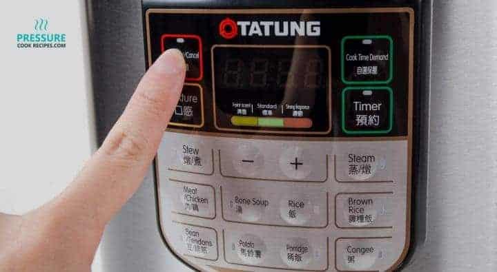 Tatung TPC-6LB 6 Liters Electric Pressure Cooker Control Panel