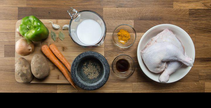 One Pot Pressure Cooker Portuguese Chicken and Rice Recipe Ingredients (Galinha à portuguesa 焗葡國雞飯)