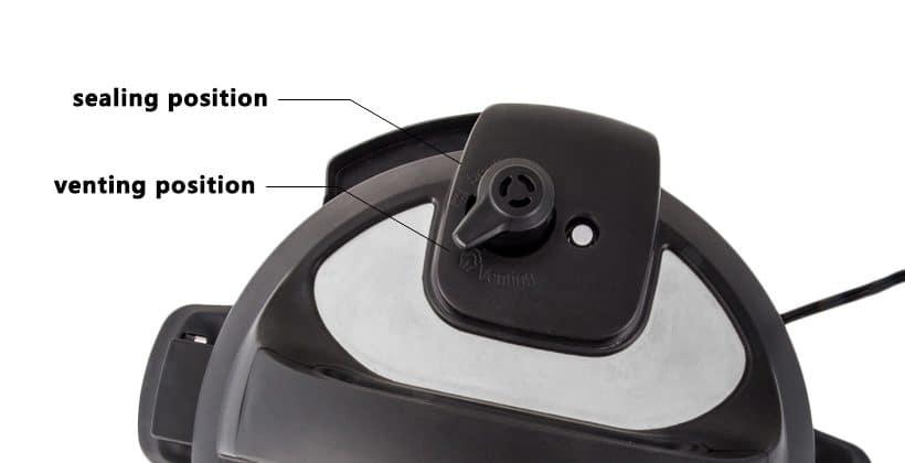 Pressure Cooker Venting Knob Position