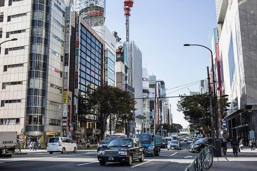 Ginza Tokyo Japan - buildings and streets