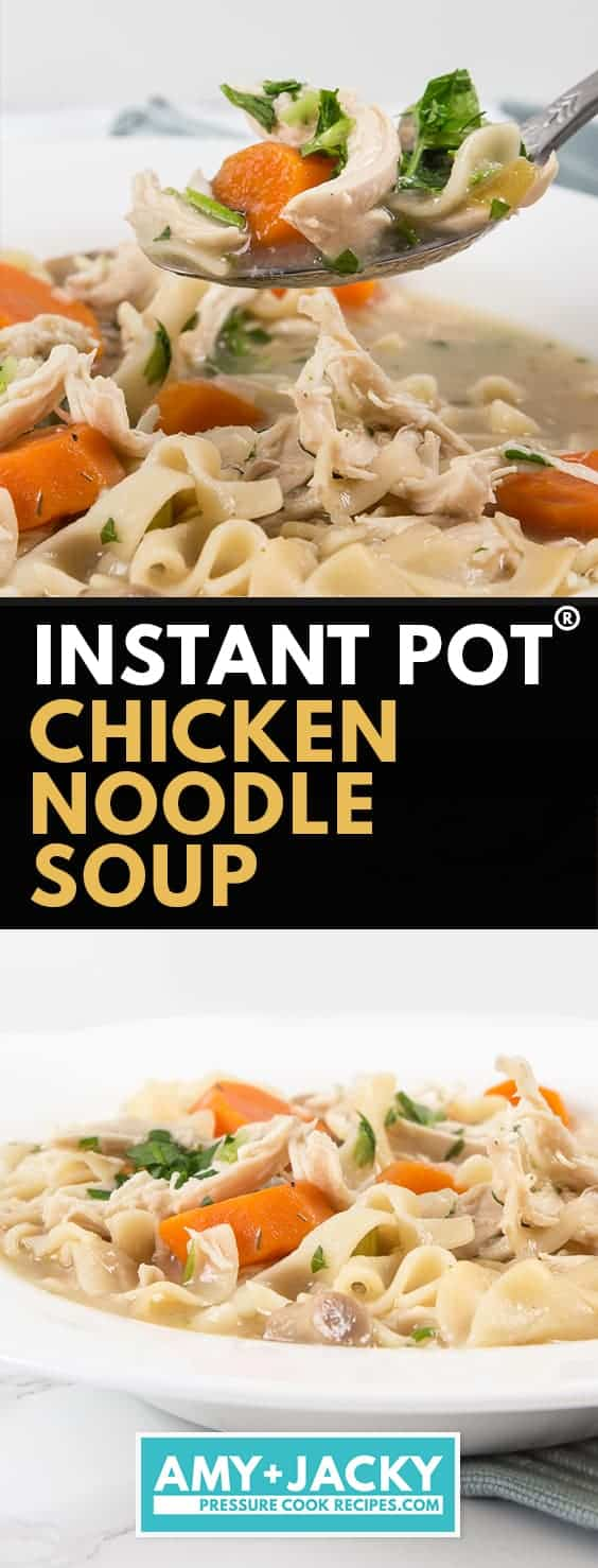 instant pot chicken noodle soup | chicken noodle soup in instant pot | pressure cooker chicken noodle soup #AmyJacky #InstantPot #PressureCooker #chicken #soup #recipe