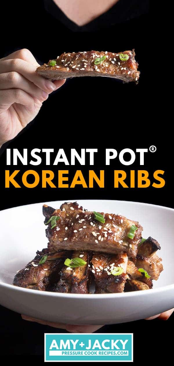 Instant Pot Korean Ribs | Pressure Cooker Korean Ribs | Instant Pot Ribs | Pressure Cooker Ribs | Instant Pot Kalbi Ribs | Instant Pot Baby Back Ribs | Instant Pot Pork Ribs | Kalbi marinade | Instant Pot Korean Recipes | Instant Pot Asian Recipes  #AmyJacky #InstantPot #PressureCooker #recipes #korean #asian