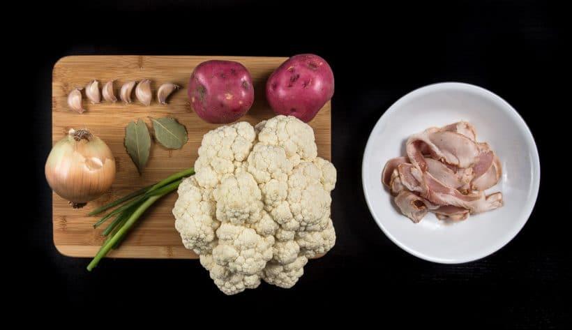 Pressure Cooker Cauliflower Potato Soup Recipe Ingredients