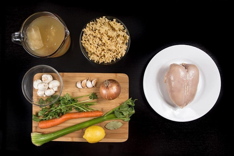 Pressure Cooker Chicken Noodle Soup Recipe Ingredients