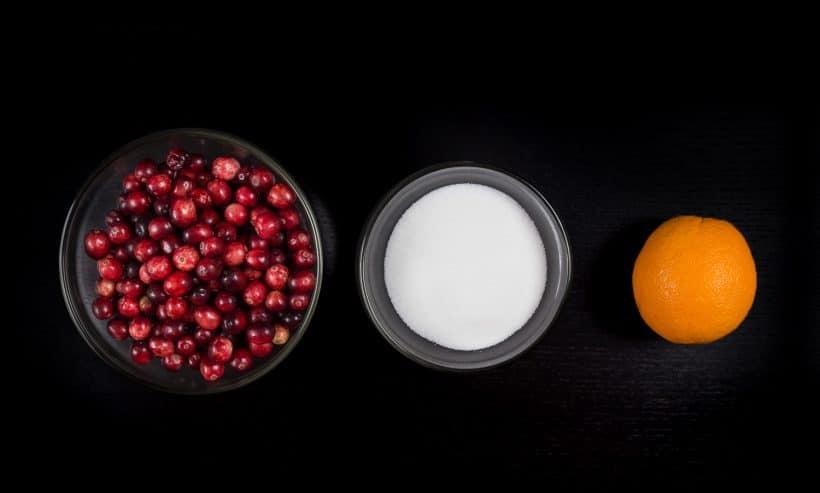 Pressure Cooker Cranberry Sauce Recipe Ingredients