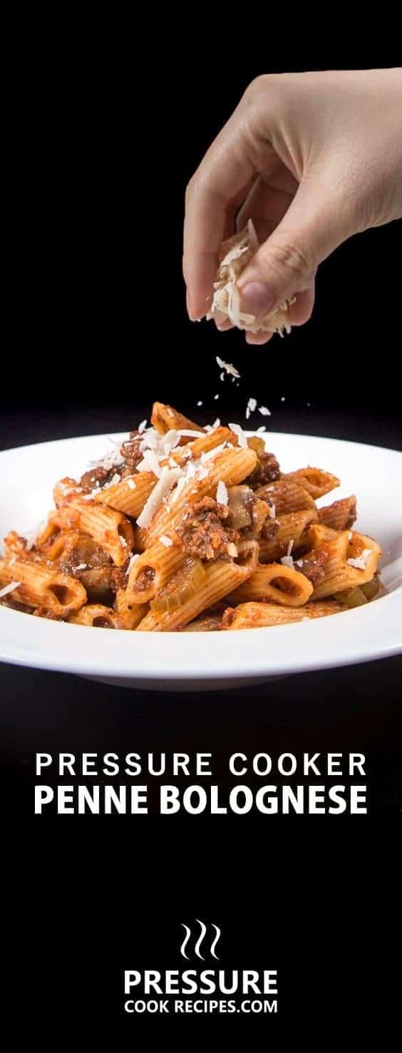 One Pot Pressure Cooker Pasta Bolognese Recipe + Video