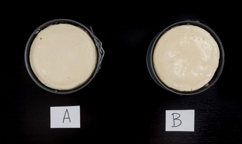 Comparing two cheesecake crusts directly