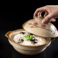 Pressure Cooker Chinese Recipes: Chinese Century Egg Pork Congee in Pressure Cooker
