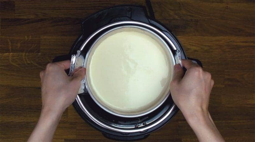 how to use a foil sling to remove cheesecake from instant pot
