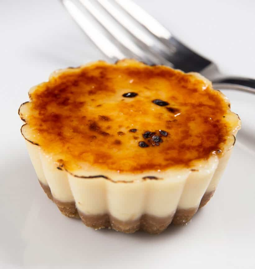 instant pot creme brulee cheesecake bites