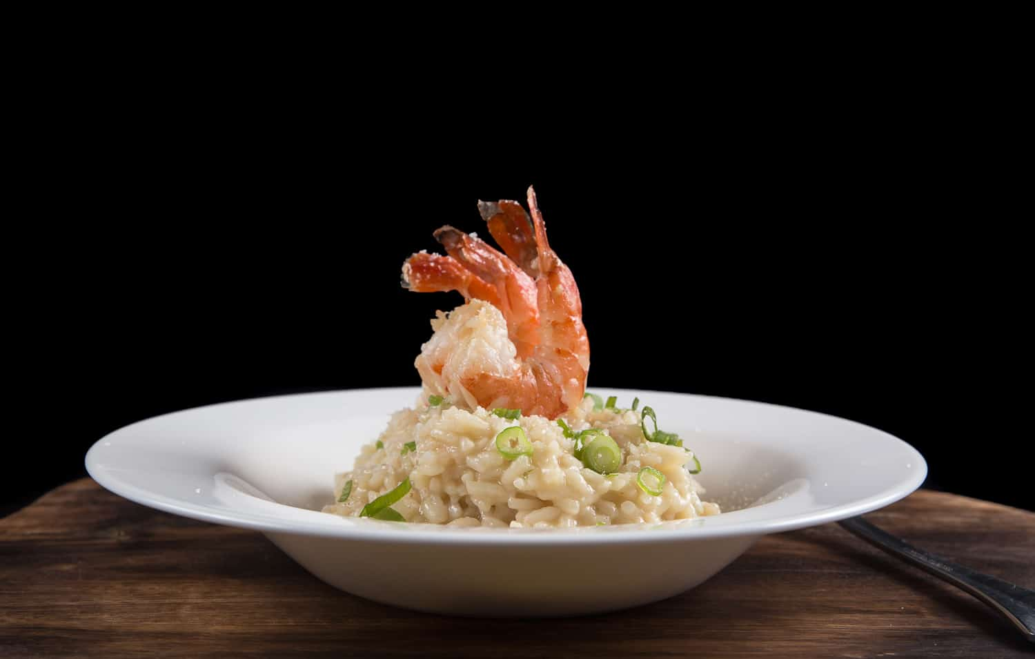 Easy Instant Pot Risotto Recipe: Make this creamy Japanese-Italian Garlic Butter Tiger Prawn Risotto. No more mushy, gluey, or hard risotto! Plus, no need to tend the pot or stir it often.