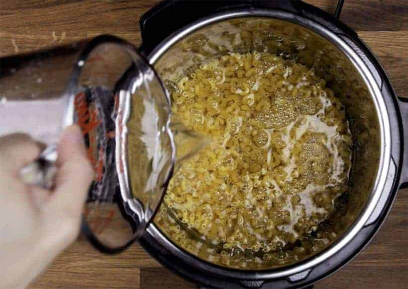 Pressure Cooker Mac and Cheese Recipe: Step 1 Pressure Cook Mac and Cheese