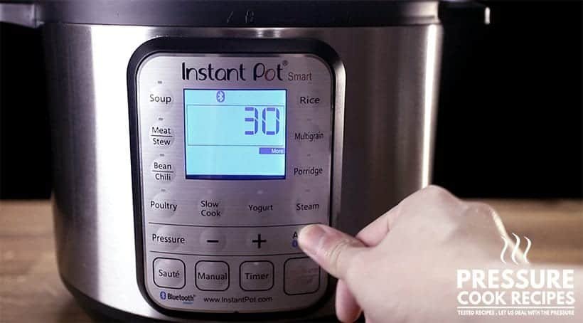 how to use instant pot - saute more function