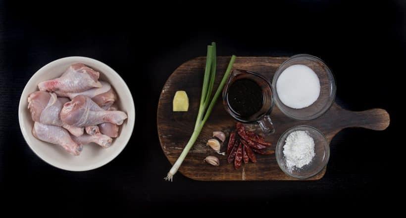 Easy General Tso's Style Instant Pot Shredded Chicken Recipe Ingredients