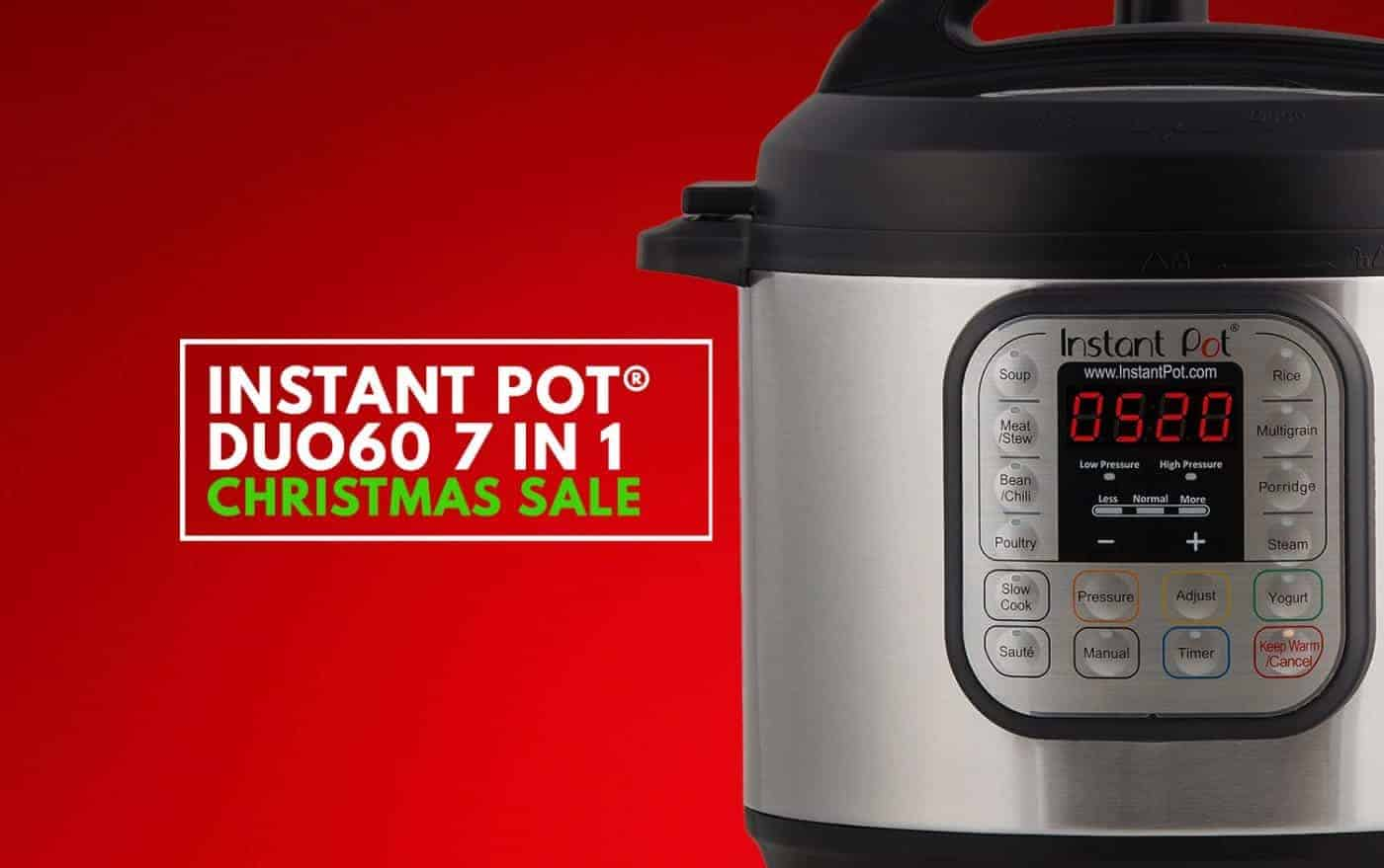 Instant Pot Christmas Deal: Now it's your chance to grab the deal on Instant Pot DUO60 7-in-1 Electric Pressure Cooker!