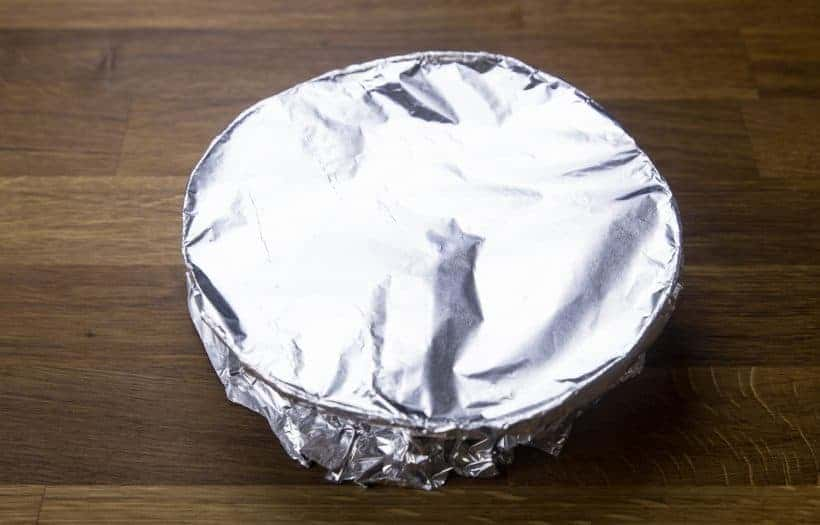 Nian Gao Chinese New Year Cake Recipe: cover with aluminum foil to avoid condensation