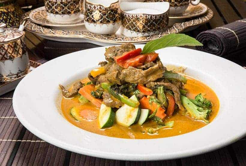 Thai food sampling & taste testing with our Thai restaurant client