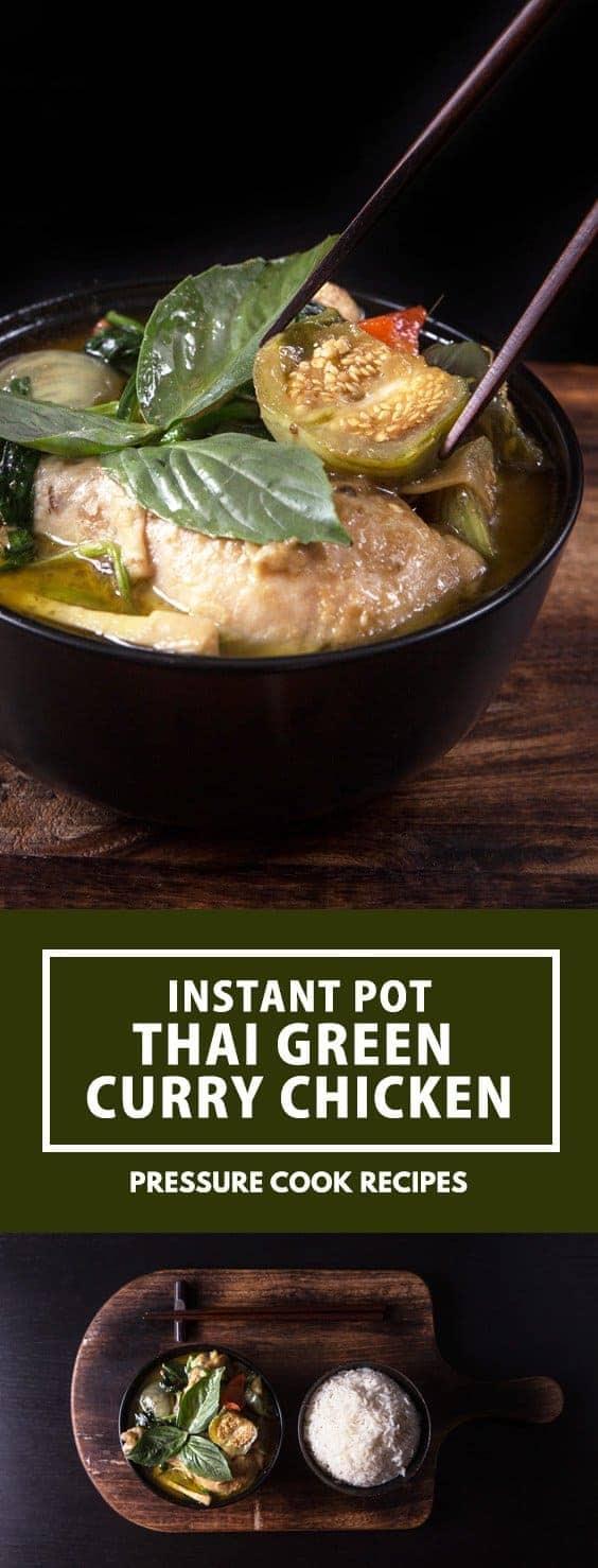 Instant Pot Thai Green Curry Chicken Recipe | Pressure ...