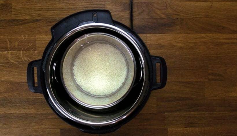 Instant Pot Pot in Pot Sticky Rice