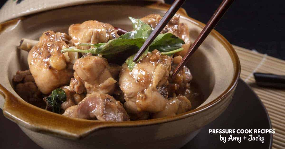 Instant Pot Three Cup Chicken Recipe San Bei Ji Pressure