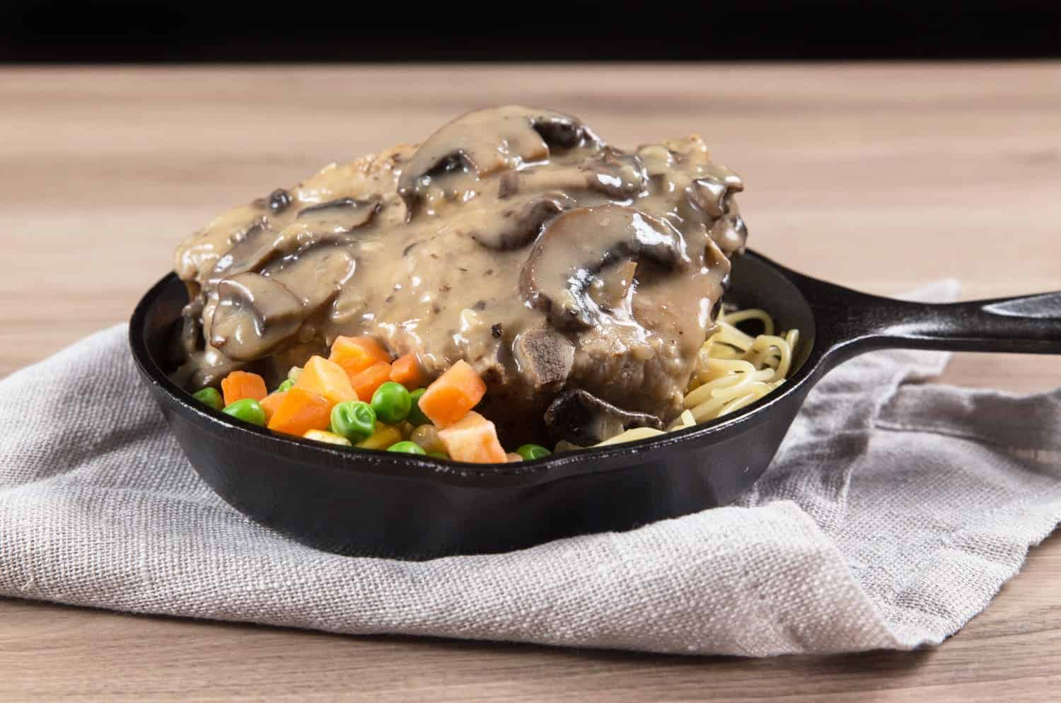Easy Instant Pot Pork Chops Recipe with classic homemade HK Mushroom Gravy! Comforting Umami Pressure Cooker Pork Chops are tender and moist.