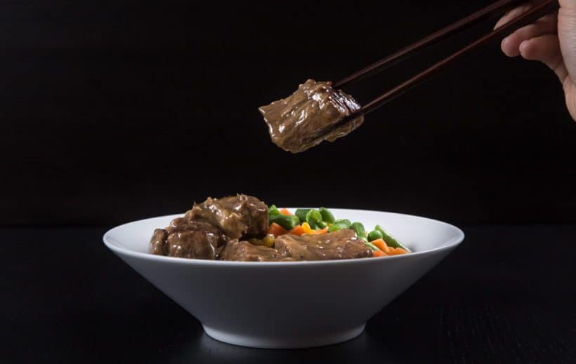Pressure Cooker Beef in HK Garlic Sauce Rice Bowl Recipe