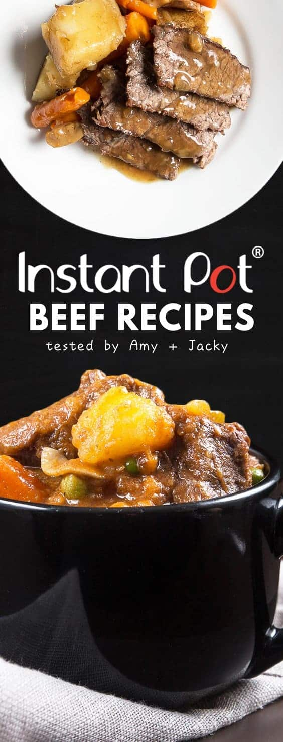 Growing collection of Tested Instant Pot Beef Recipes, Pressure Cooker Beef Recipes, and Electric Pressure Cooker Beef Recipes.