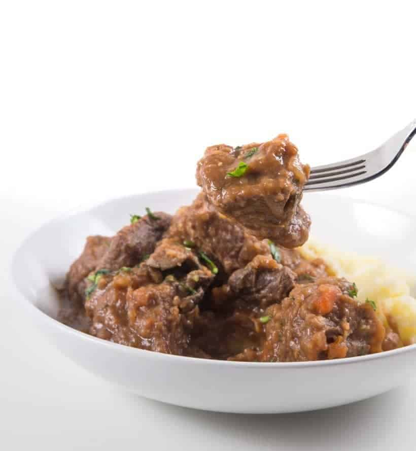 Guinness Instant Pot Irish Beef Stew and Mashed Potatoes Recipe: Celebrate St Patrick's Day with this Pot-in-Pot Pressure Cooker Irish Stew with rich gravy. Delicious adult treat you shouldn't miss!